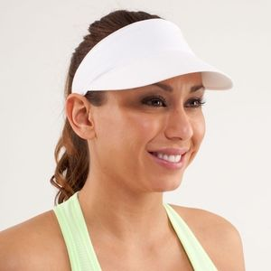 Lululemon Shady Lady Run Visor in White NWT